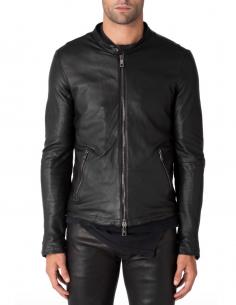 giorgio bravo Black leather jacket in lambskin