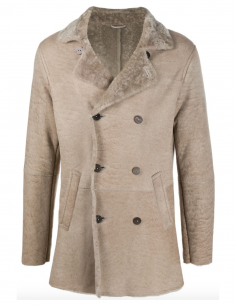 Caban coat made in shearling in beige giorgio brato men