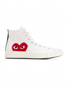 Cdg Play x Converses mono heart high sneakers in white
