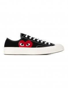 Cdg Play x Converse mono heart low sneakers in black