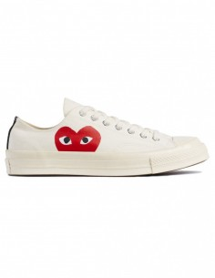 Cdg Play x Converse mono heart low sneakers in white