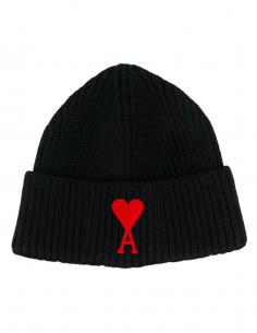 Bonnet Logo Coeur Brodé Noir