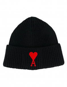 Black Hat Heart Logo Embroidered
