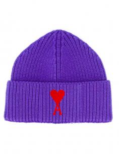 Bonnet Coeur Logo Brodé Violet