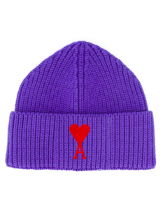 Purple Hat Logo Heart Embroidered