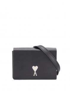 Black Mini Box Bag Rivet Logo