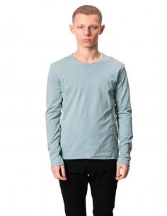 Double Tee Shirt Bleu Manches Longues