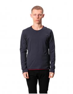 Grey Double Tee Shirt Long Sleeves
