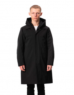 Black Waterproof Hooded Parka