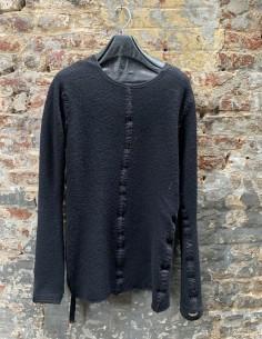 "ISAAC SELLAM ""ARRETE"" reversible black pullover made in 100% wool"