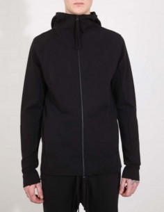 THOM KROM jacket with a hood in black cotton