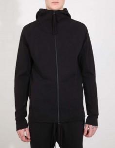 Veste à capuche en coton noir thom krom