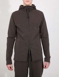 THOM KROM jacket with a hood in khaki cotton
