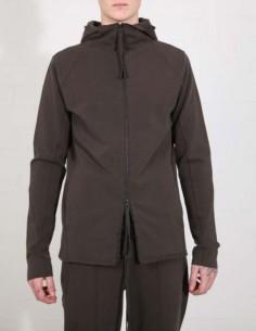 Veste à capuche en coton kaki THOM KROM