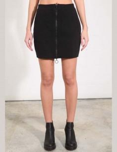THOM KROM Zipped short skirt in black