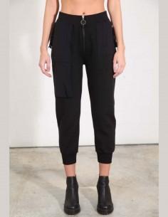 Pantalon de jogging zippé noir thom krom