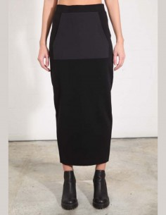 THOM KROM long pencil skirt in black with maxi pocket