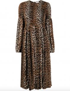 Leopard Printed Long Dress
