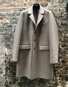 Beige Coat Medium-Long 2 Pockets