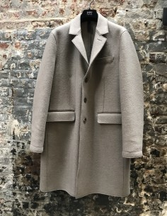 Manteau Mi Long 2 Poches Beige