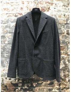 Grey Twill Blazer 2 Buttons