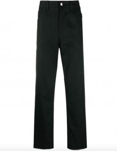 Black Jeans Thigh Zip Pocket