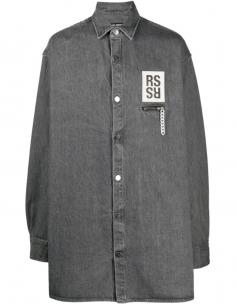Back Printed Jean Shirt