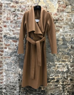 Brown Long Coat Collar Shawl