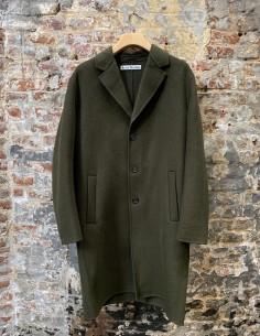 3 Button Khaki Twill Coat