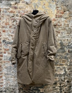 Washed Cotton Hooded Parka