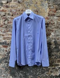 Chemise bleue et blanche à rayures