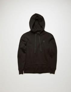 Black FERRIS FACE Hoodie Kangaroo Pockets