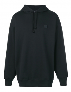 Black FARRIN FACE Hoodie with Logo Smiley