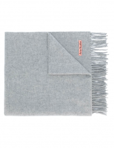 Grey Canada Fringed Wool Wrap
