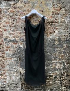 Robe Légère À Bretelle avec Fond De Robe Vert