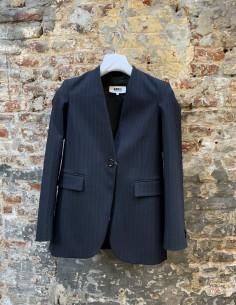 Blue tennis striped jacket