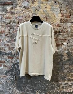 Beige Tapered Yoke T-Shirt