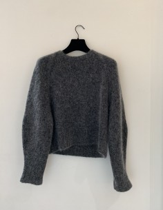 Pull Col Rond Oversize Gris
