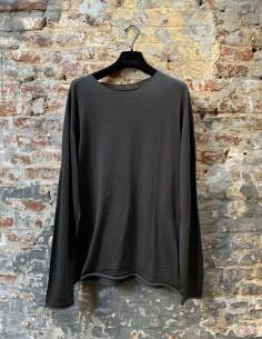 Khaki Merinos Wool Round Neck Sweater