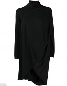 Robe Boule Col Roulé Noire