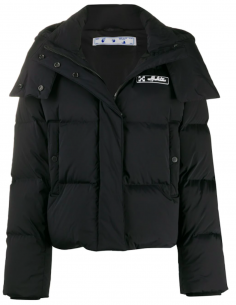Black Removable Hooded Down Jacket