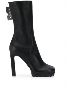 Boots Square Toe Black Notched Sole