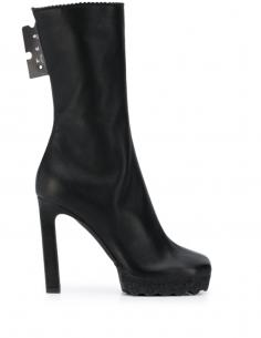 Boots Bout Carré Semelle Crantée Noires