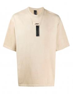 Beige Logo Yoke T-Shirt