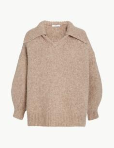 Sweater Trucker V-Neck in Alpaca