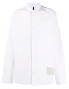 White Contrast Vertical Stripe Oversize Shirt