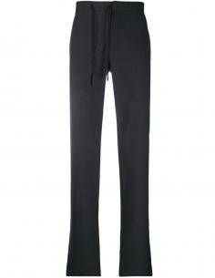 Pantalon droit gris à lien de resserrage