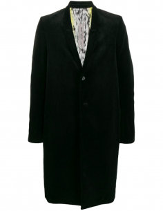 Manteau Long Velours Côtelé Noir