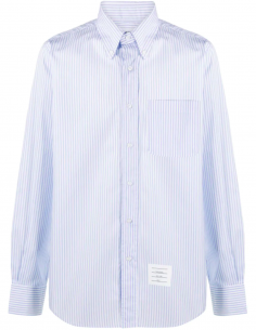 Cotton Poplin Striped Shirt
