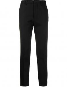 Pantalon de Costume Slim Noir en Laine
